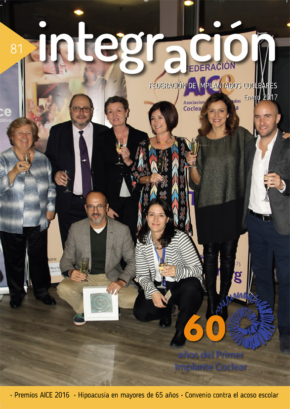 Foto de grupo de los premiados AICE 2016