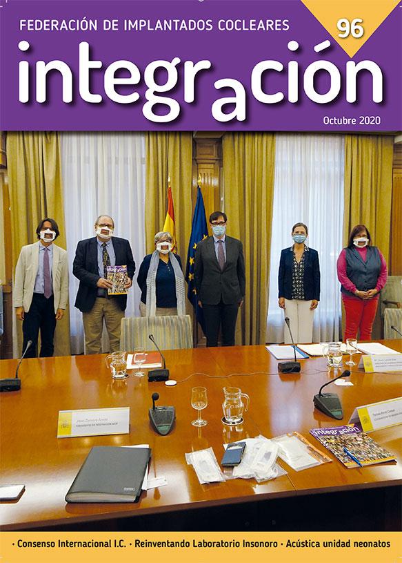 Federaci�n AICE con el Ministro de Sanidad por las mascarillas accesibles.