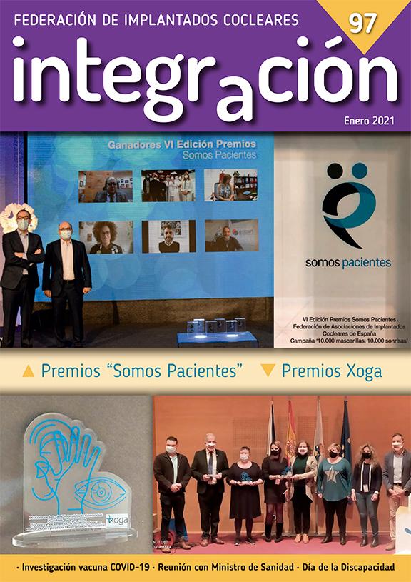 Portada: Federación AICE recibe el premio Somos Pacientes y Premio Xuntos Avanzamos por las mascarillas comunicativas.